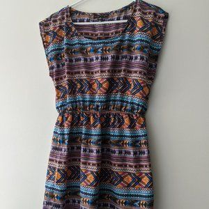 City Triangles Aztec Print Dress Size Medium
